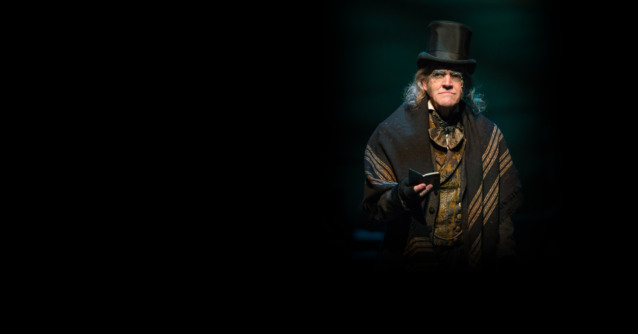 Chris Kayser in the 2013 production of A Christmas Carol. Photo by Greg Mooney.