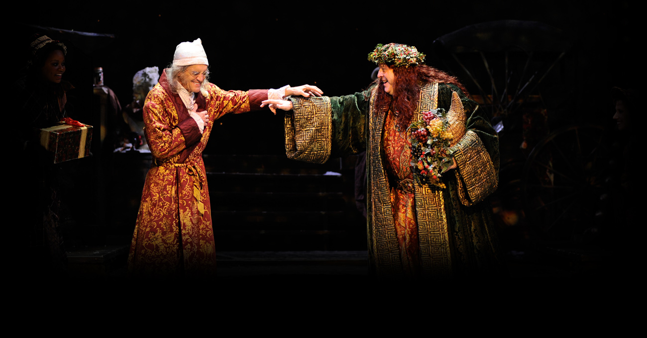 Chris Kayser and Bart Hansard in the 2013 production of A Christmas Carol. Photo by Greg Mooney.