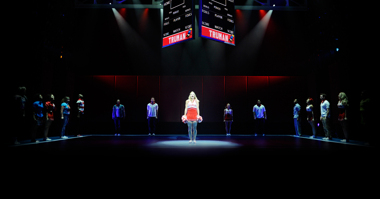 The cast of the 2011 world premiere of Bring It On: The Musical. Photo by Greg Mooney.