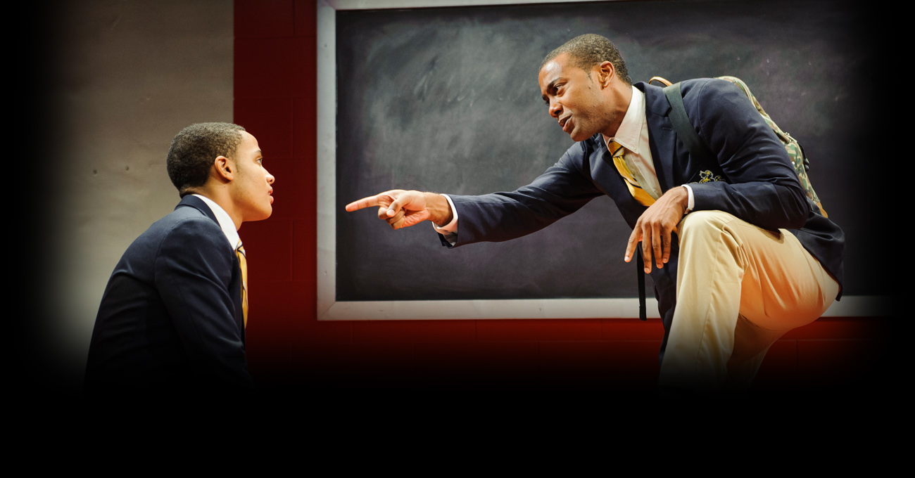 Nicholas L. Ashe and Joshua Boone in the 2013 production of Choir Boy. Photo by Greg Mooney.