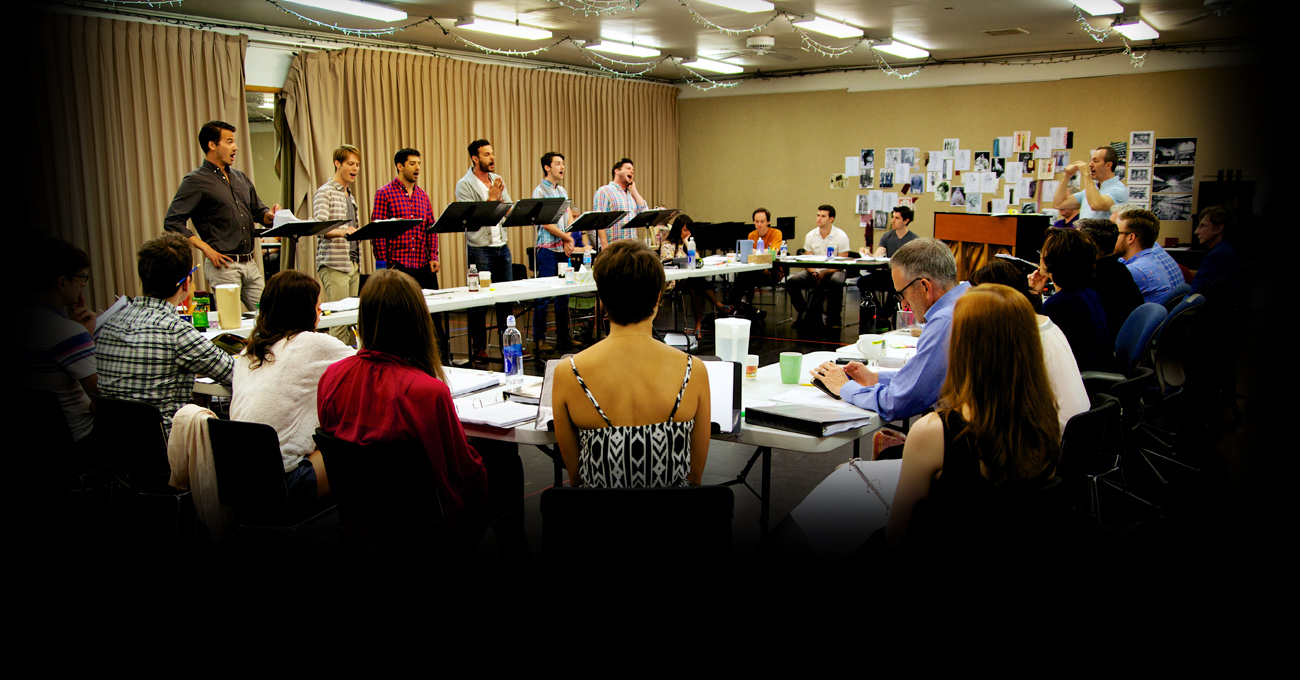 The cast of the 2013 production of Harmony: A New Musical.