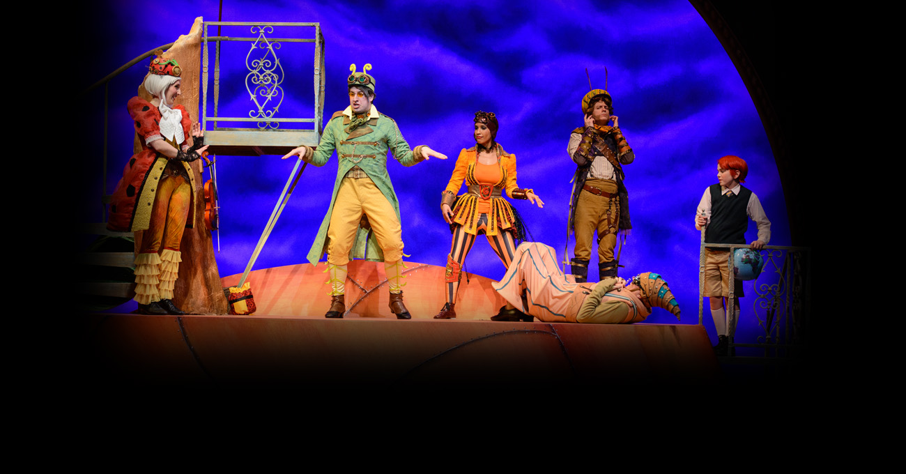 The cast of the 2015 production of James and the Giant Peach. Photo by Greg Mooney.