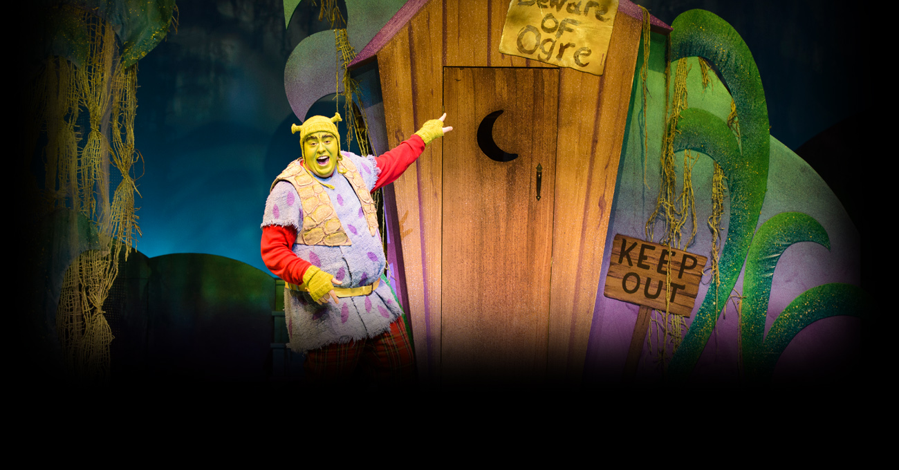 Caleb Clark in the 2014 production of Shrek the Musical. Photo by Greg Mooney.