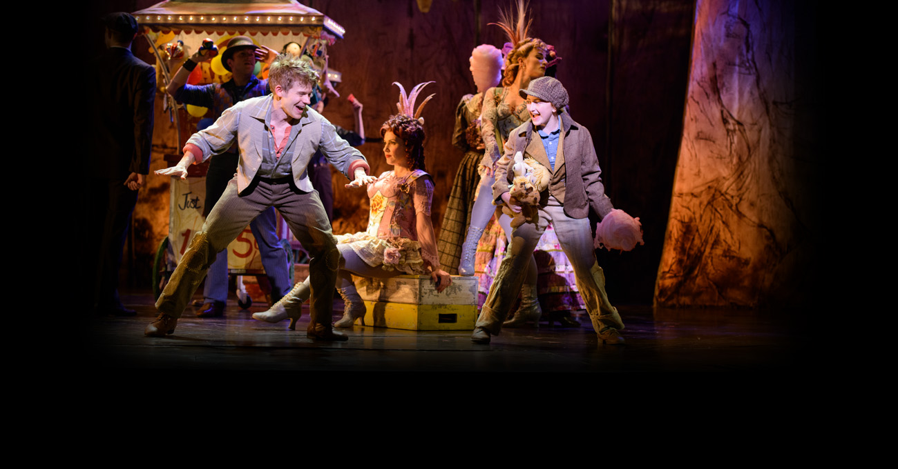 Andrew Keenan-Bolger and Sarah Charles Lewis in the 2015 world premiere of Tuck Everlasting. Photo by Greg Mooney.