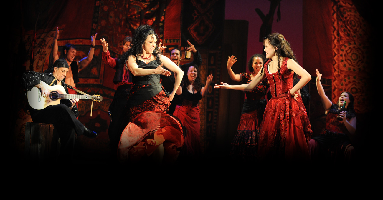 Natascia Diaz and Andrea Goss in the 2013 production of Zorro. Photo by Greg Mooney.