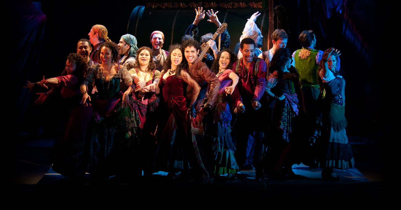 The cast of the 2013 production of Zorro.