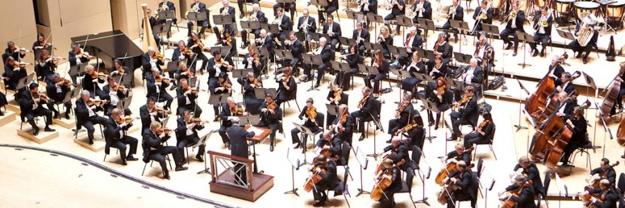 Atlanta Symphony Hall, photo of performers on stage